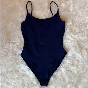 Forever 21 Navy blue one piece with back cutout